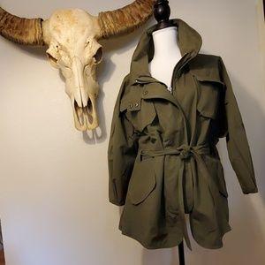 William Rast belted military jacket